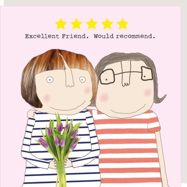 Greeting card for friends and friendship